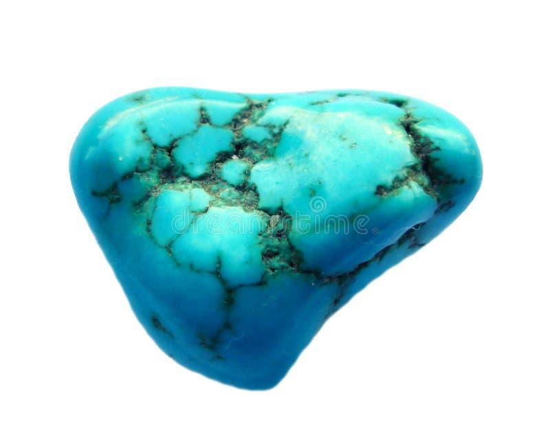 Turquoise mineral Gemstone. Isolated on white background royalty free stock images