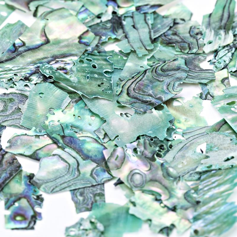 Turquoise natural gemstone nacre seashells close-up, beautiful texture of gemstone stock photos