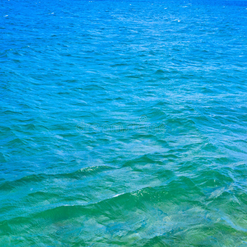 Turquoise ocean water stock photography