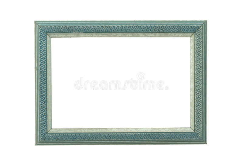 Turquoise Ornamented Wooden Frame Royalty Free Stock Image