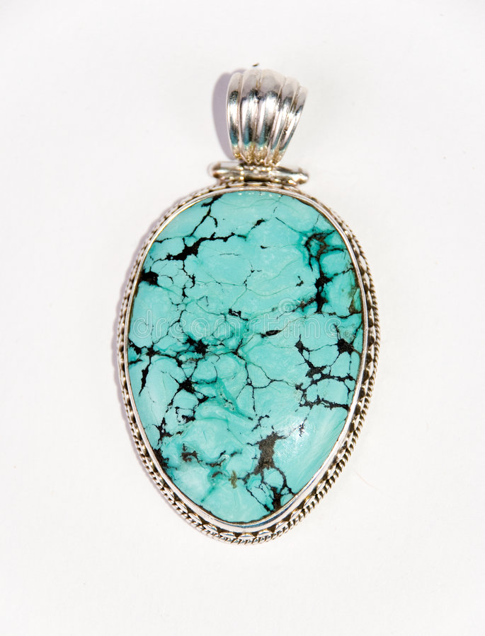 Turquoise pendant stock image