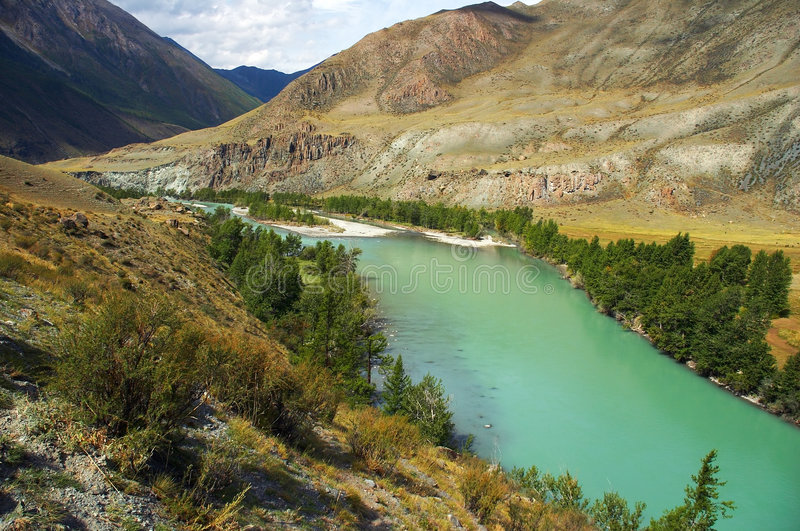 Download Turquoise River In The Mountains Royalty Free Stock Photos - Image: 508398
