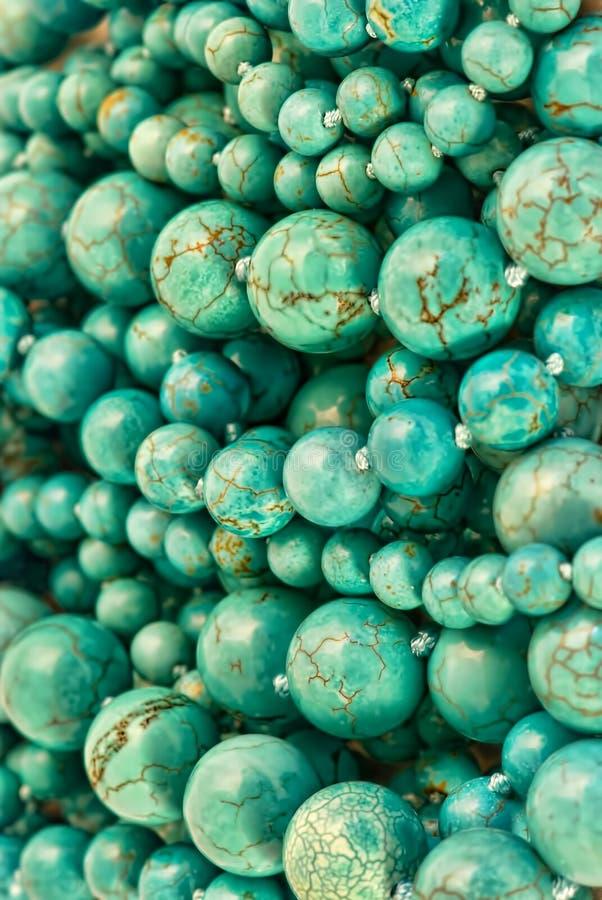 Turquoise Round Beads Background Royalty Free Stock Photos