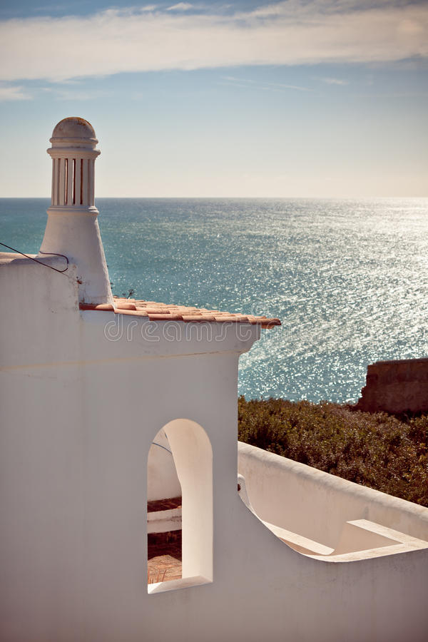 Download Turquoise Sea, Blue Sky And White House In Portugal Stock Photo - Image: 30966888
