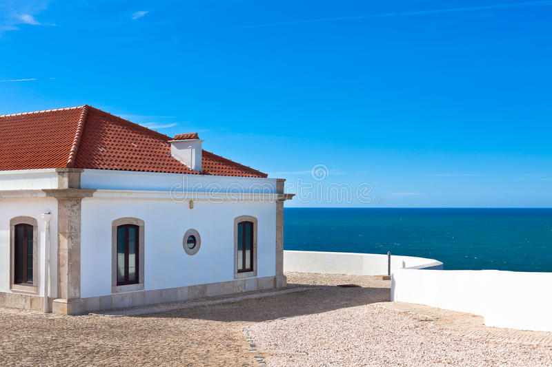 Download Turquoise Sea, Blue Sky And White House In Portugal Stock Photo - Image of holiday, idyllic: 30963136