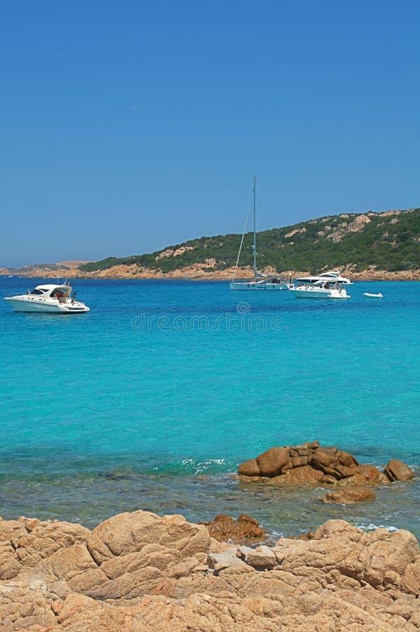 Turquoise sea in Costa smeralda - Sardinia - Italy royalty free stock image