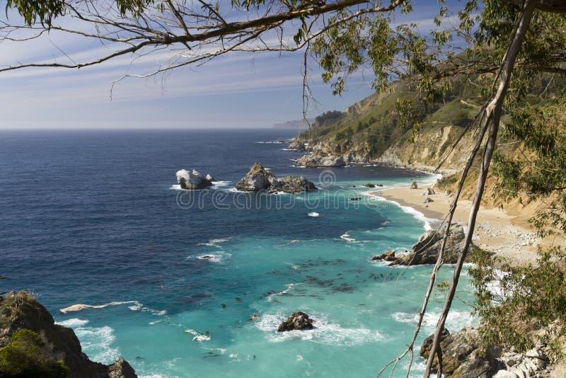 Turquoise sea shore royalty free stock image