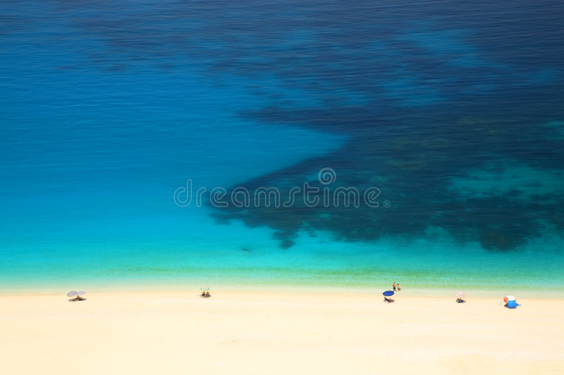 Download Turquoise sea, white sand stock image. Image of cephallenia - 8229549