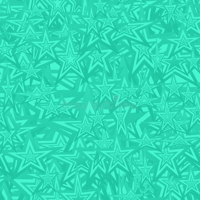 Turquoise seamless star pattern background royalty free illustration