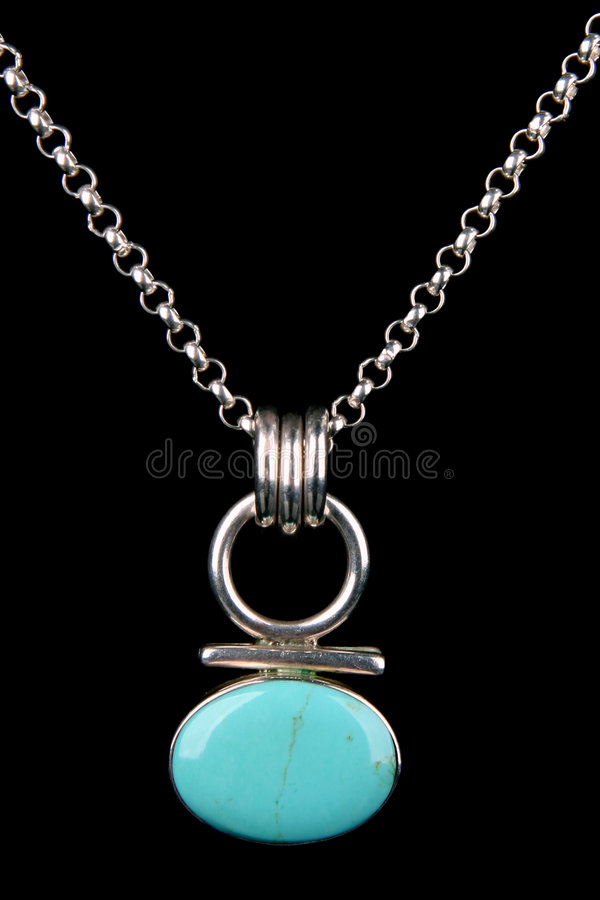 Download Turquoise  Silver Necklace Isolated Royalty Free Stock Images - Image: 5473889