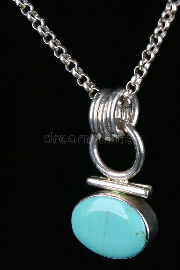 Download Turquoise  Silver Necklace Isolated Stock Image - Image: 5473895