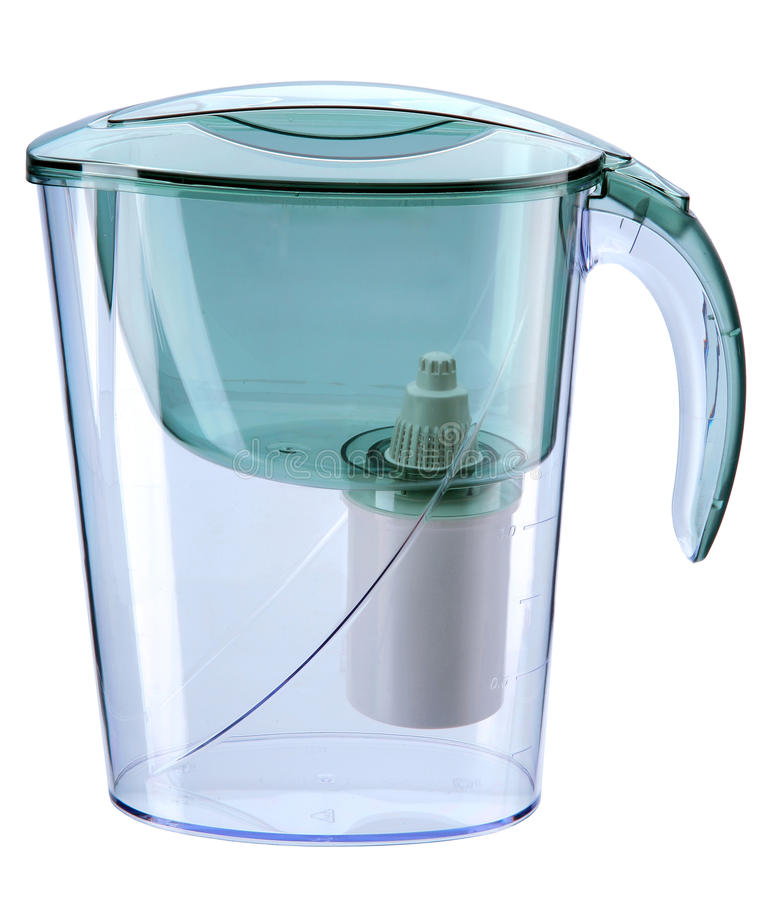 Download Turquoise Water Filtration Pitcher With Filter Stock Photo - Image: 33666586