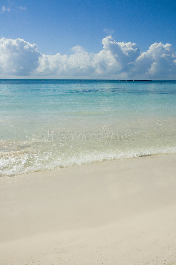 Turquoise water and white sand royalty free stock image