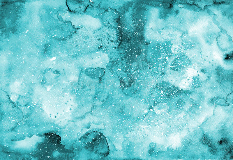 Turquoise watercolor texture stock illustration