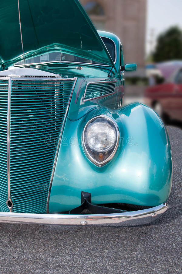 Turquoise on Wheels royalty free stock photos