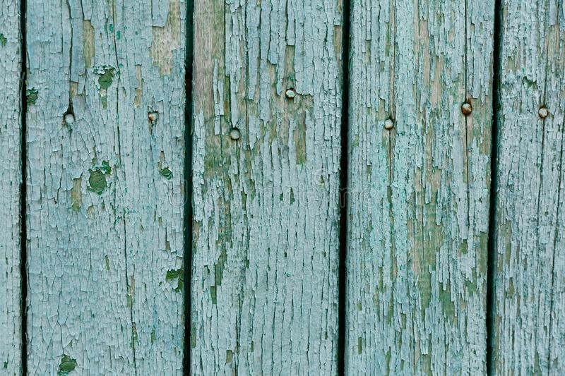 Turquoise wood texture background, top view wooden board.  royalty free stock images