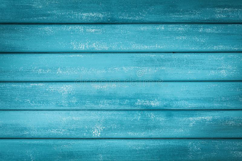 Turquoise wooden background. Painted plank in vintage style. Turquoise wooden background. Painted plank in rustic style stock image