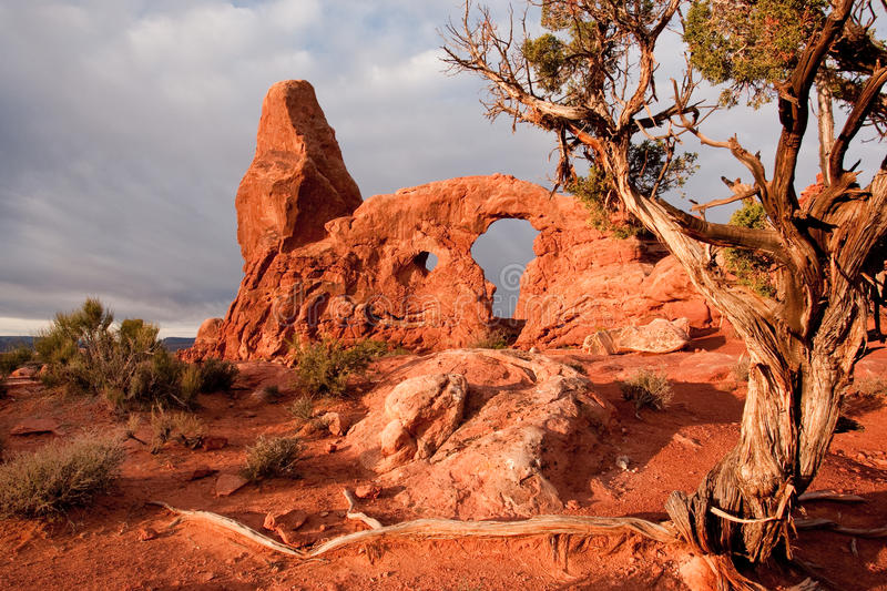 Download Turret Arch stock photo. Image of park, stone, southwest - 17221246