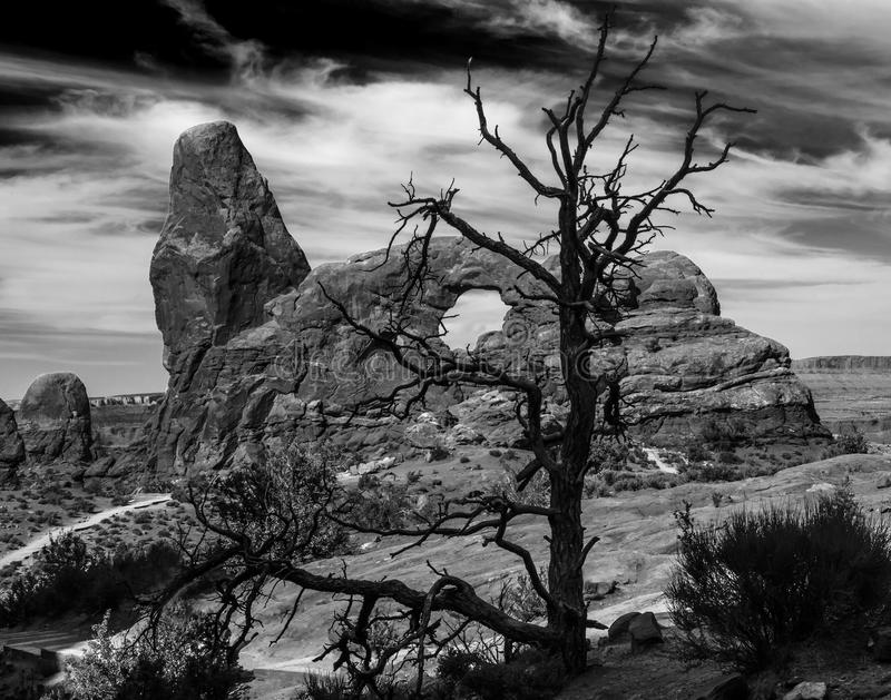 Turret Arch. Arches National Park - Turret Arch, Utah, USA stock photos