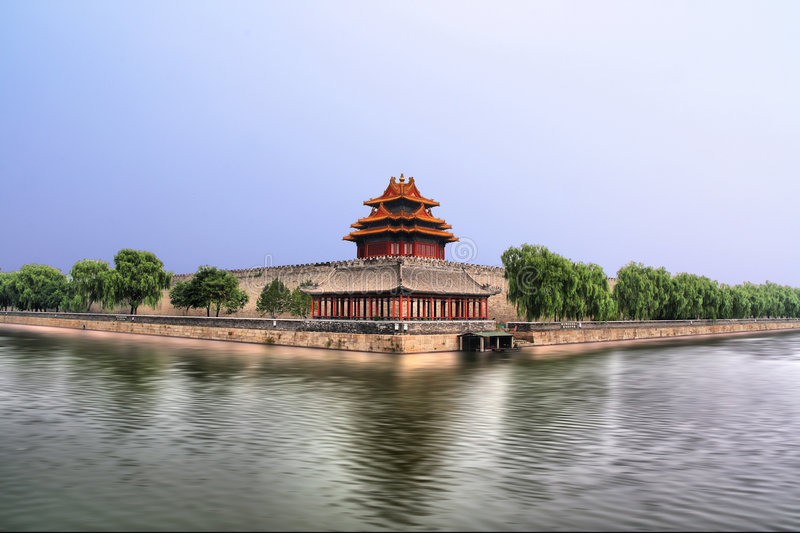 The Turret Of The Imperial Palace(Forbidden City) Royalty Free Stock Images
