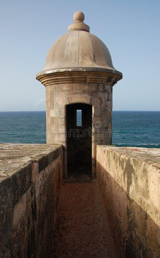 Free Turret Overlooking The Ocean Stock Photos - 7181273