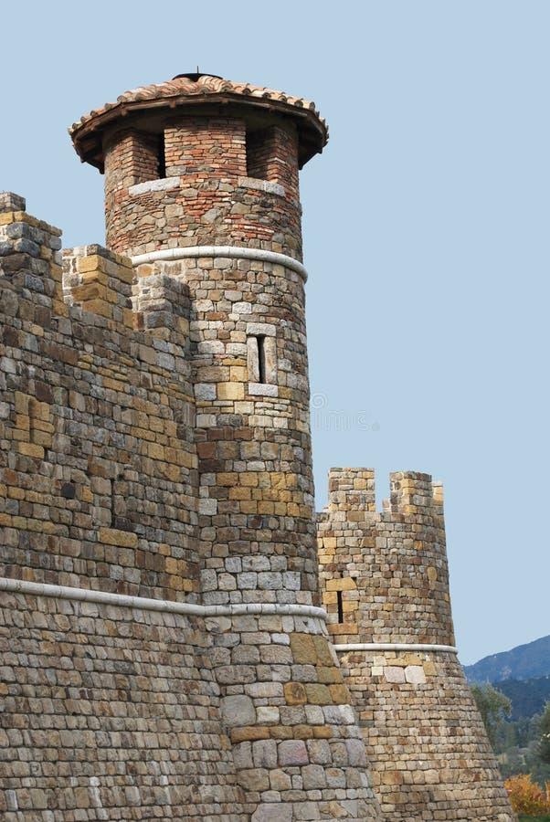 Turret på Castello di Amarosa royaltyfri foto