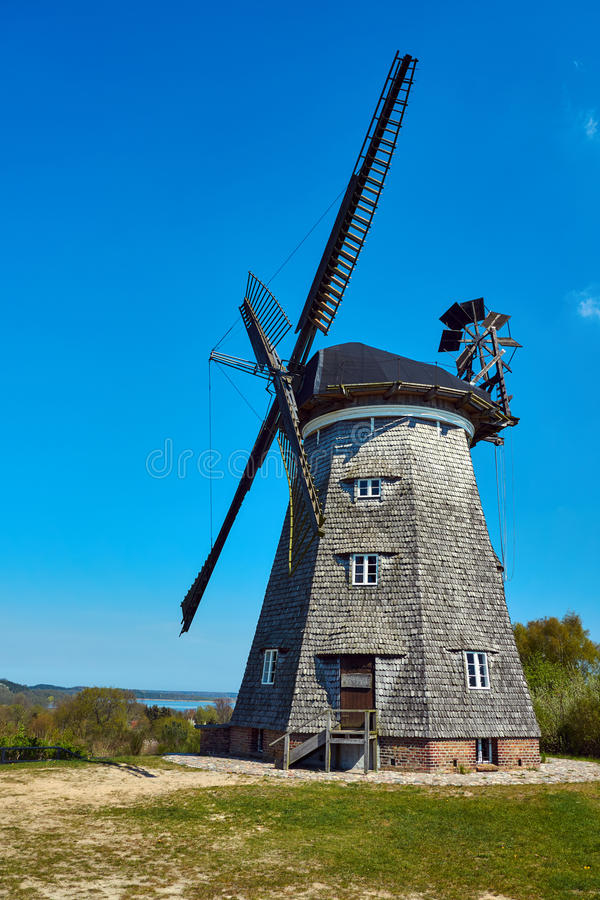 Turret windmill in the village of Benz on the island of Usedom royalty free stock images