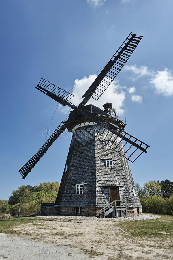 Turret windmill in the village of Benz royalty free stock photo