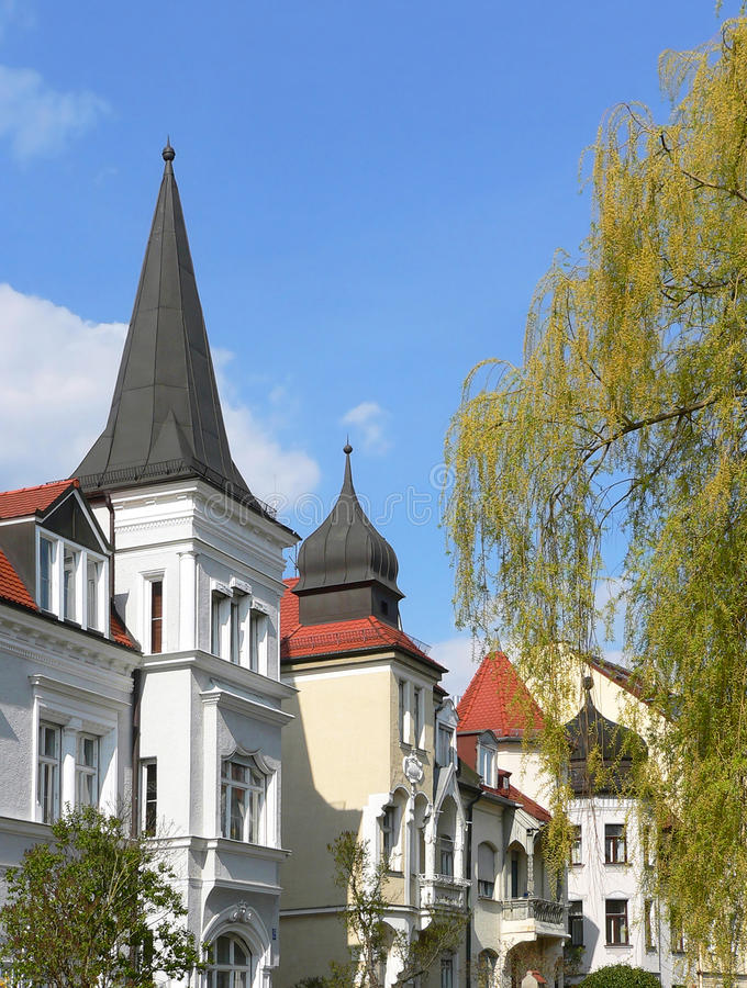 Turrets and gables. German. City scape stock images