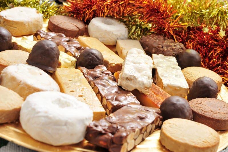 Turron, mantecados и polvorones, испанские confections рождества стоковые изображения