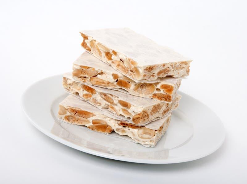 Turron, traditioneel Spaans dessert stock fotografie