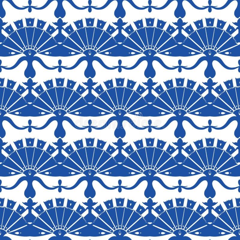 Turskish för kungliga blått för vektor blom- abstrakt begrepp royaltyfri illustrationer