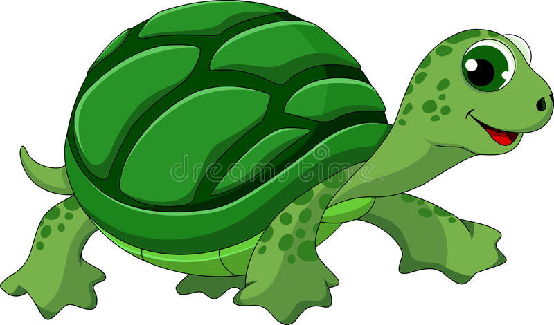 Download Turtle cartoon stock illustration. Image of reptile, isolated - 34639584