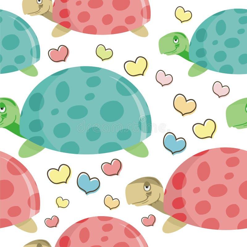 Turtle cartoon Seamless pattern design royalty free stock photo