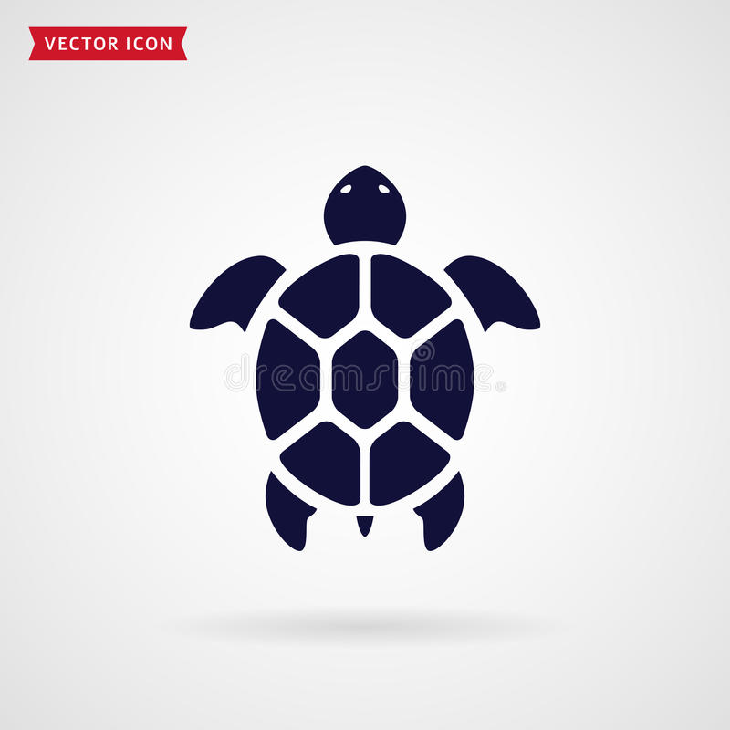 Turtle icon. Turtle icon isolated on white background. Sea animal. Vector symbol vector illustration