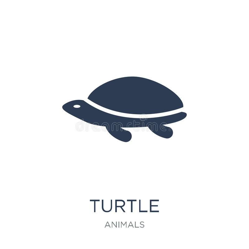 Turtle icon. Trendy flat vector Turtle icon on white background. From animals collection, vector illustration can be use for web and mobile, eps10 stock illustration