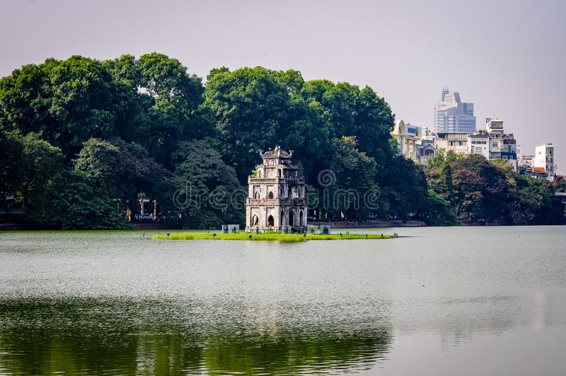 Turtle Lake Central Hanoi South East Asia royalty free stock images