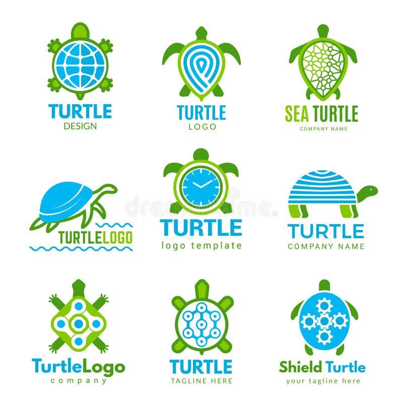 Turtle logo. Ocean wild animal stylized symbols tattoo designs vector turtle business identity. Illustration logo turtle, ocean animal reptile stock illustration