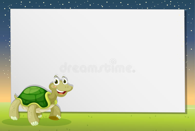 Turtle On Paper Royalty Free Stock Photos