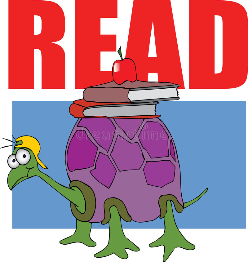 Download Turtle - Read Books stock illustration. Illustration of literature - 10273218