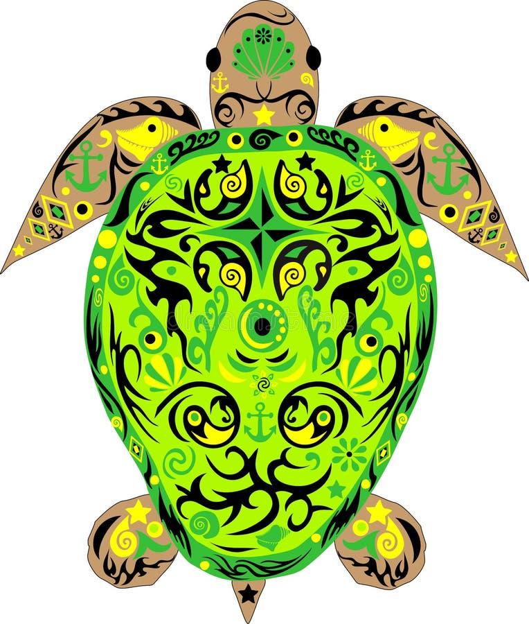 Turtle, a reptile vector illustration