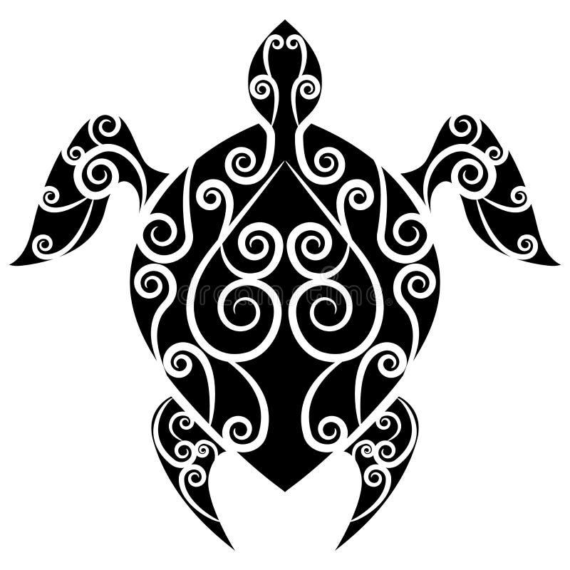 Download Turtle Swirl Tattoo stock vector. Illustration of tribal - 27166416