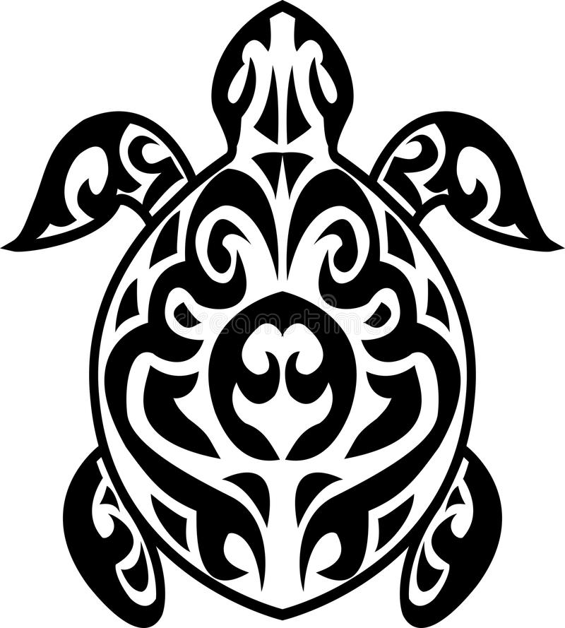 Download Turtle Tribal Tattoo Royalty Free Stock Images - Image: 24706249