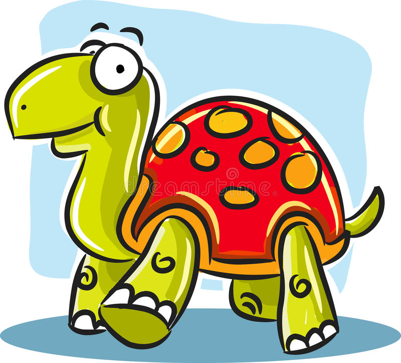 Free Turtle With Red Shell Stock Photography - 10163232