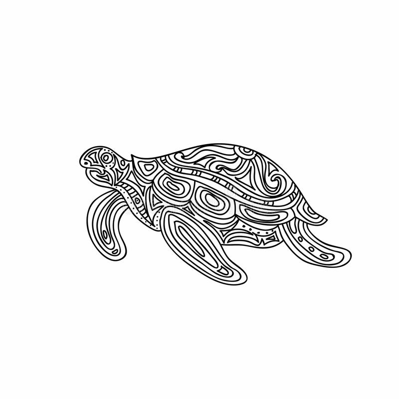 Turtle Zentangle Coloring Page Stock Illustration Image 63272166