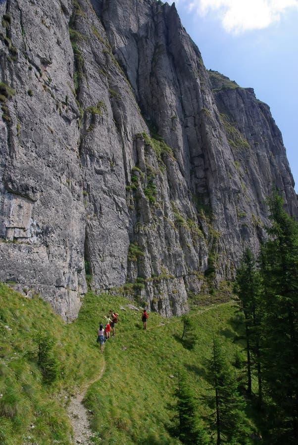 turyści górskie obraz stock