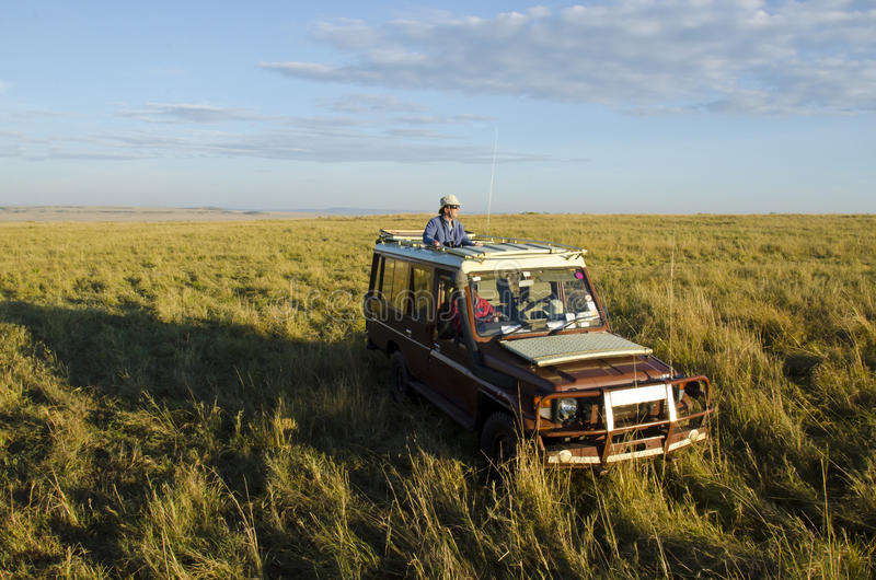 Turyści na safari obrazy stock