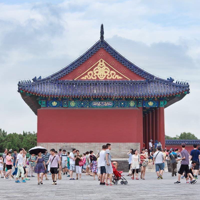 Turyści przy świątynią niebo, Beijing, Chiny fotografia stock