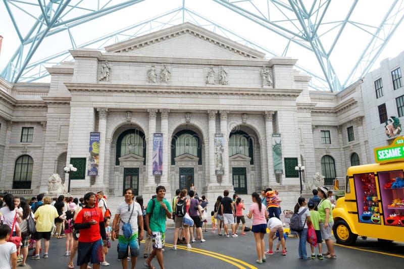 Turyści przy universal studio Singapur zdjęcia stock