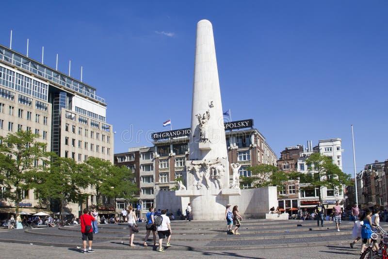 Turyści w Amsterdam obrazy stock